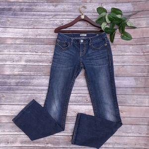 MEK Denim Oaxaca boot cut denim jeans logo design